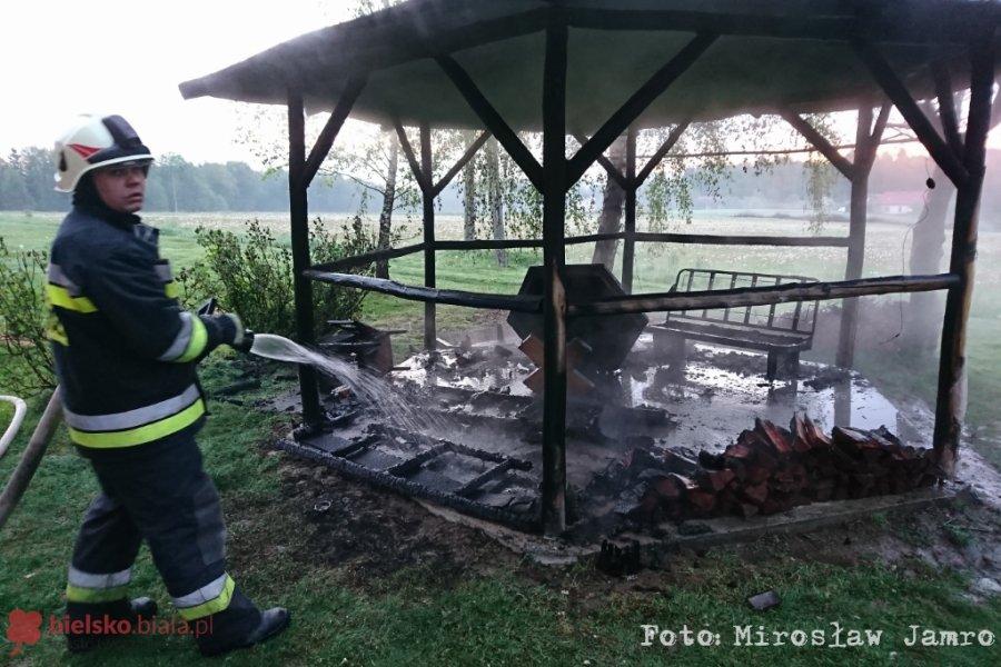 Pożar Altany Ogrodowej Samo Się Nie Zapaliło Foto