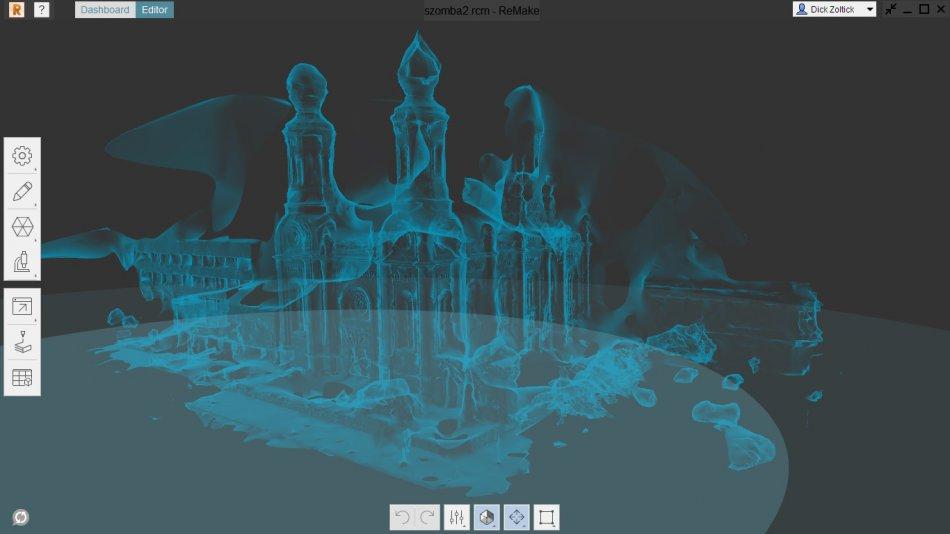 Wizualizacje 3D zburzonej synagogi